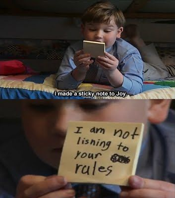 """""""Joy - I have tried to be nice but you have pushed me to the edge"""" - King Curtis"""