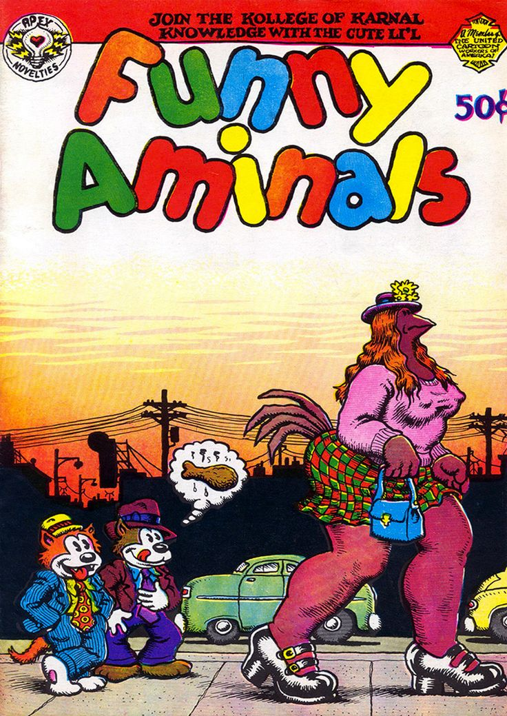 Funny Aminals by #Robert_Crumb #underground_comics | Funny ...
