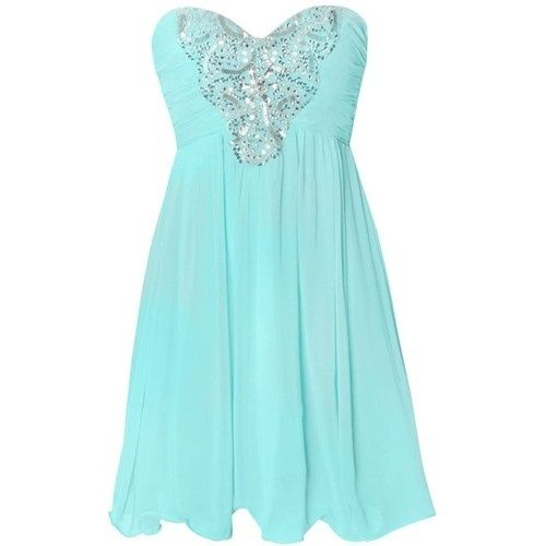 Tiffany blue dress. (omg tyra wasnt even my description they already had it w/ ur theme colors)