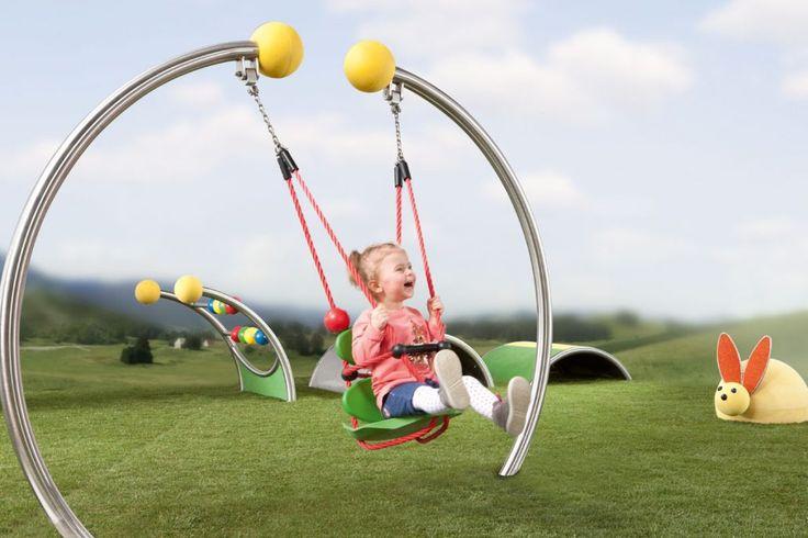 Kleinkindschaukel Fips | Stilum Spielplatzgeräte für Kleinkinder