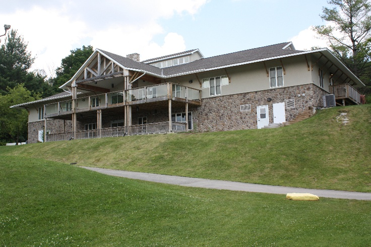The Duncan & Lesley Hawthorne building - program rooms in the basement and camper accommodation upstairs.