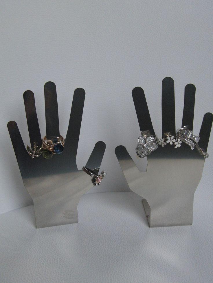 Mani porta anelli in acciaio inox by Zambaldo Design