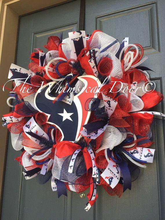Texans Wreath Houston Texans Football Wreath by TheWhimsicalDoor
