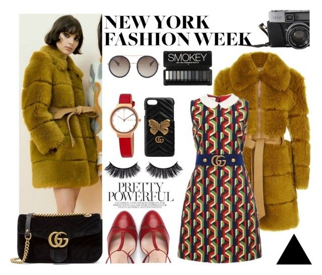 Autumn Look #12 NYFW Fall 2017 by gpatricia on Polyvore featuring polyvore fashion style Gucci Chloé© Skagen Battington clothing