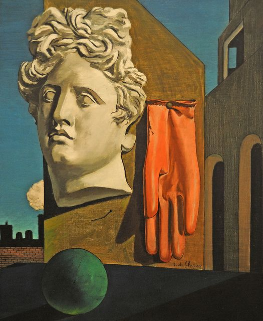 Giorgio de Chirico - The Song of Love, 1914 Painting that deeply affected young Rene Magritte and helped him develop his signature style.
