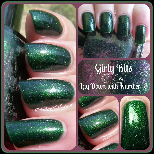 Girly Bits: Lay Down with Number 13 - Swatches and Review   Pointless Cafe