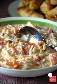Yoğurtlu Jülyen Sebze Salatası HUZUR SOKAĞI (Yaşamaya Değer Hobiler)