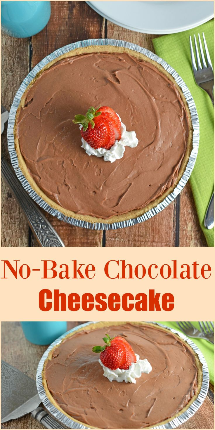 no bake chocolate cheesecake is a super creamy quick and. Black Bedroom Furniture Sets. Home Design Ideas