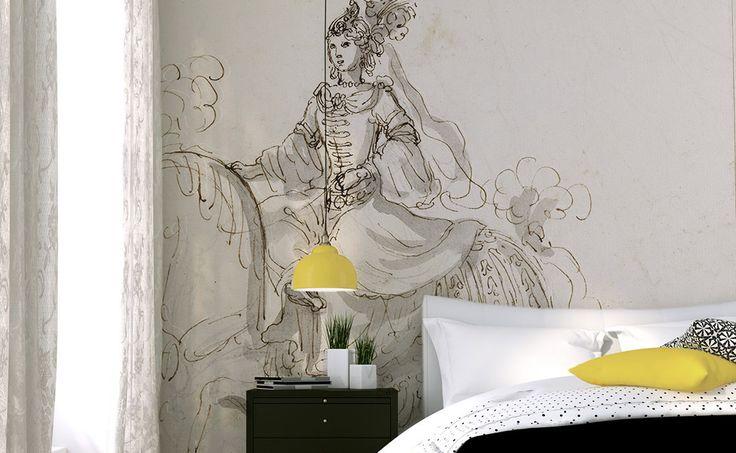 21 best images about masterpieces on pinterest set of wallpapers and antiques - Papier peint tete de lit ...