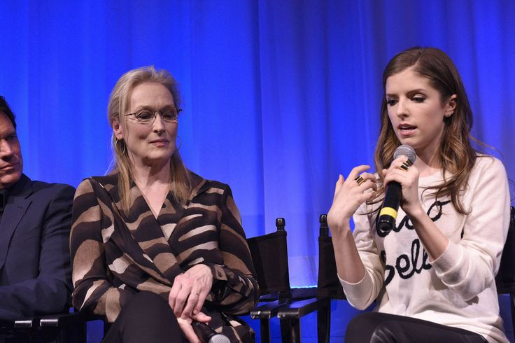 Meryl Streep, Anna Kendrick attend the The Academy Of Motion Picture Arts And Sciences Hosts An Official Academy Members Screening Of INTO THE WOODS at The Academy Theatre at Lighthouse International on December 9, 2014 in New York City.