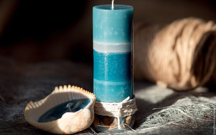Купить Набор свечей. Морской стиль. Интерьерные свечи. Свечи с ракушками - живой огонек, свеча