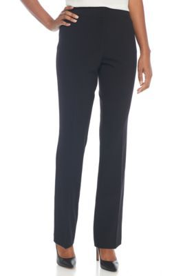 Kim Rogers Women's No Gap Fashion Pants - Black - 14 Average