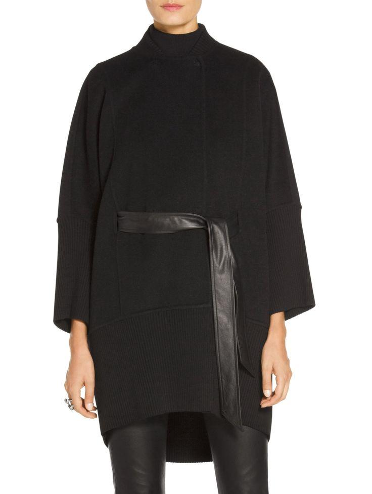 Doubleface Angora Cashmere Mandarin Collar Jacket