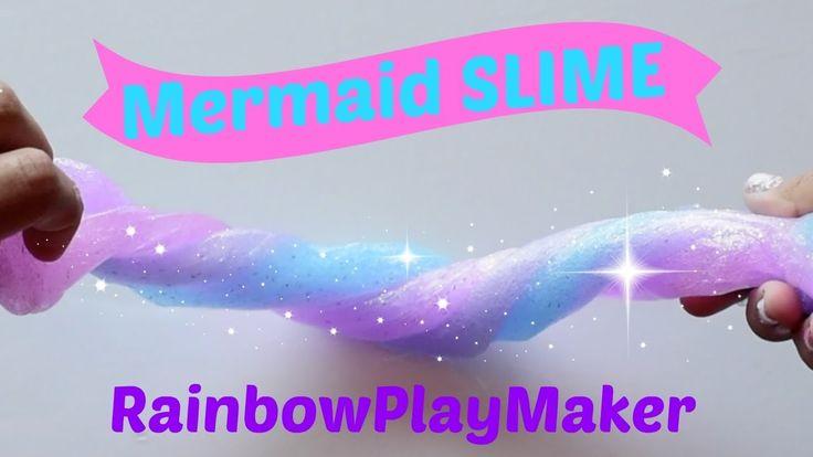 How to make MERMAID Glitter SLIME ♥ DIY Tutorial Video