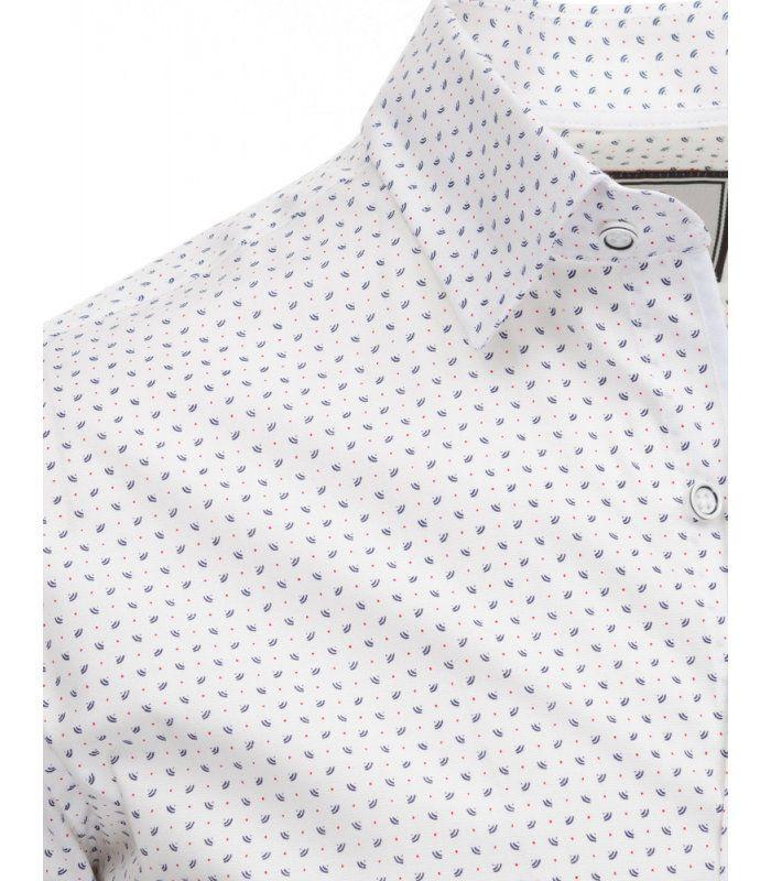 Biela vzorovaná košela s dlhými rukávmi
