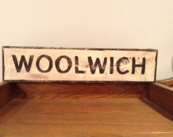Custom orders available for Vintage Weathered-looking Town Village British Road Sign - Edit Listing - Etsy