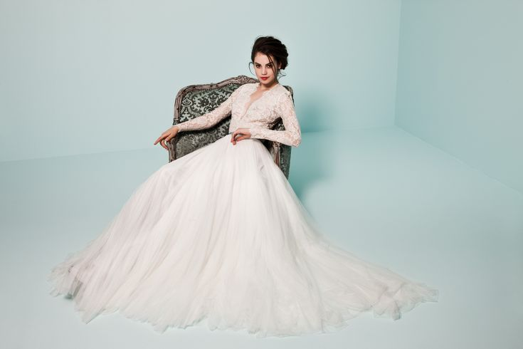 Soft tulle and lace gown from the Pearl Collection : PRL 866