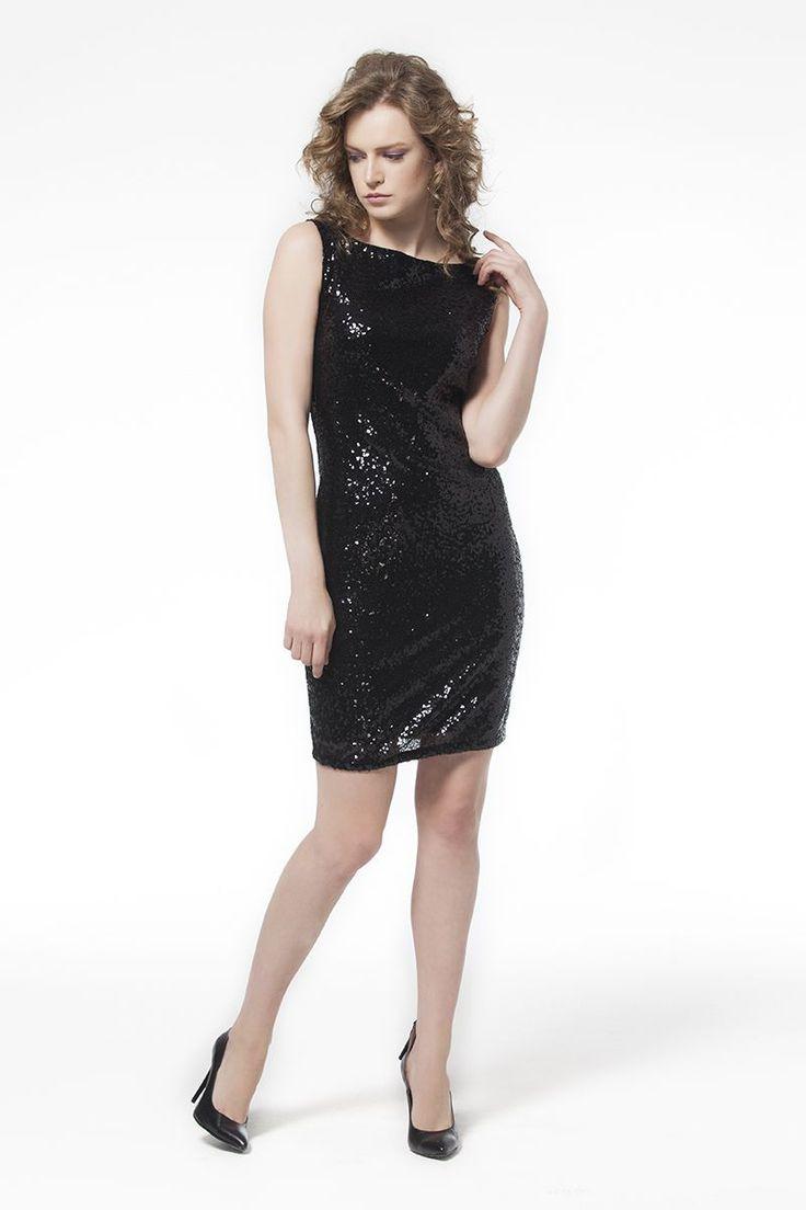 Pullu Siyah Elbise Pullu Siyah Elbise Elbise En Trend Elbiseler 89,90 TL