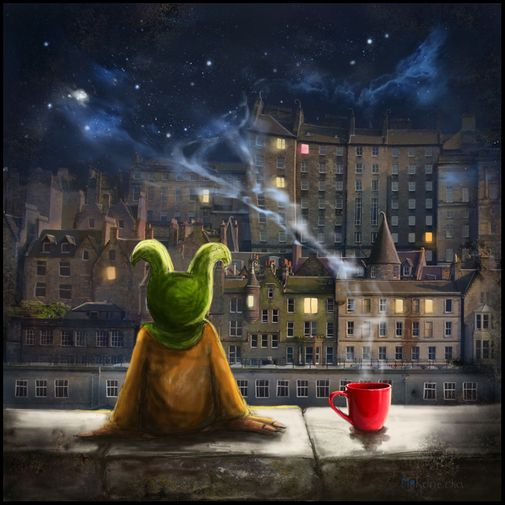 Amazing artist Matylda Konecka really captures something of the magical spirit of Edinburgh (and other places)