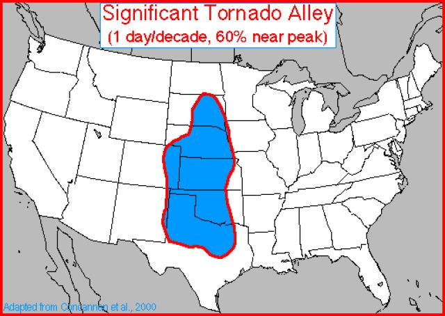 Tornadoes - A Weather Guide Tutorial: Living in Tornado Alley