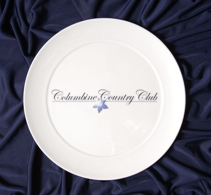 These are the dinner plates they use in their prestigious country club  sc 1 st  Pinterest & 22 best Printed Pictures Logos On Plates (porcelain/ceramic/bone ...