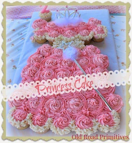 Old Road Primitives: Princess Dress Cupcake Cake Tutorial...
