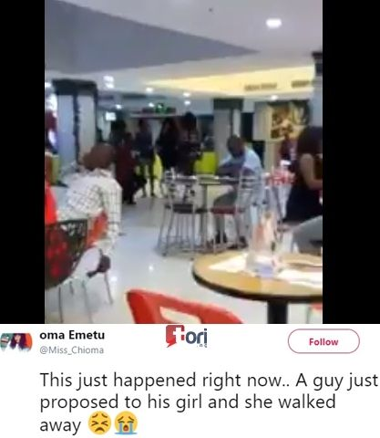 See the Heartbreaking Moment a Young Lady Publicly Rejected Her Boyfriend's Marriage Proposal (Video) http://ift.tt/2Bua9wh