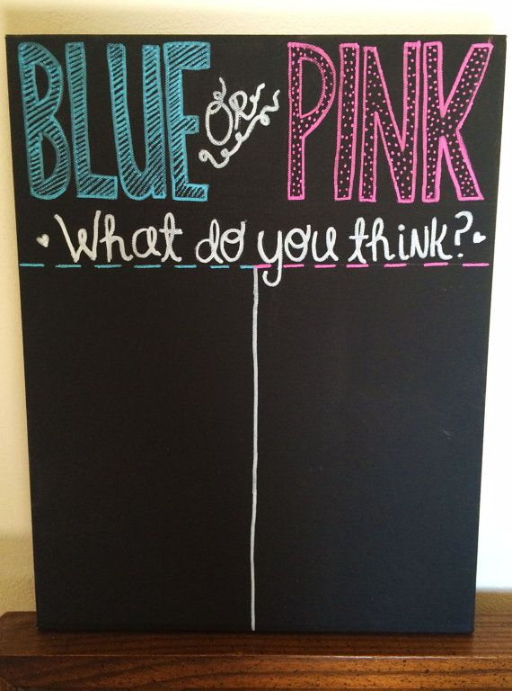 Gender Reveal Tally Fill in the Blank by SprinklesCBoutique