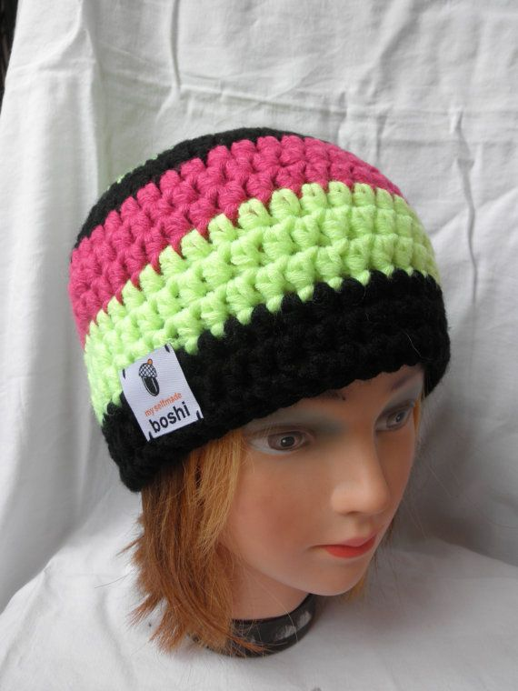 Multicolor fluo hatcapbeaniefor by megghyshop on Etsy