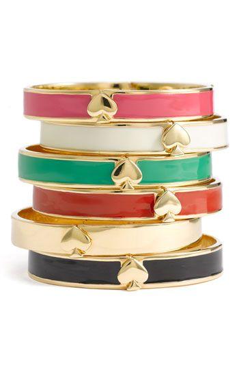 Kate Spade 'Spade' bangles: York Spade, Style, Spade Bangles, Jewelry, New York, Accessories, Kate Spade, Katespade