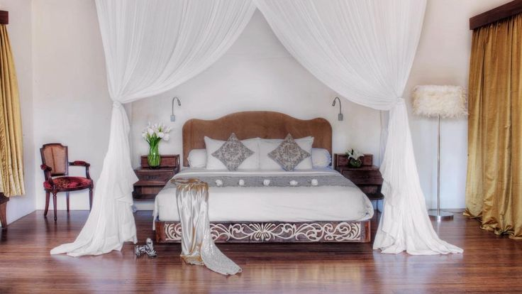 Must have bed canopy curtains.  Love love love