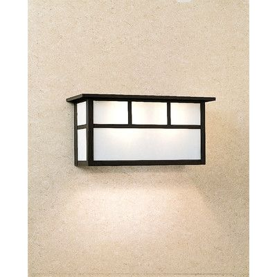 "Arroyo Craftsman Huntington 2-Light Outdoor Flush Mount Size / Overlay: 6.5"" H x 13.5"" W x 5.38"" D / No, Finish: Satin Black, Shade Type:"
