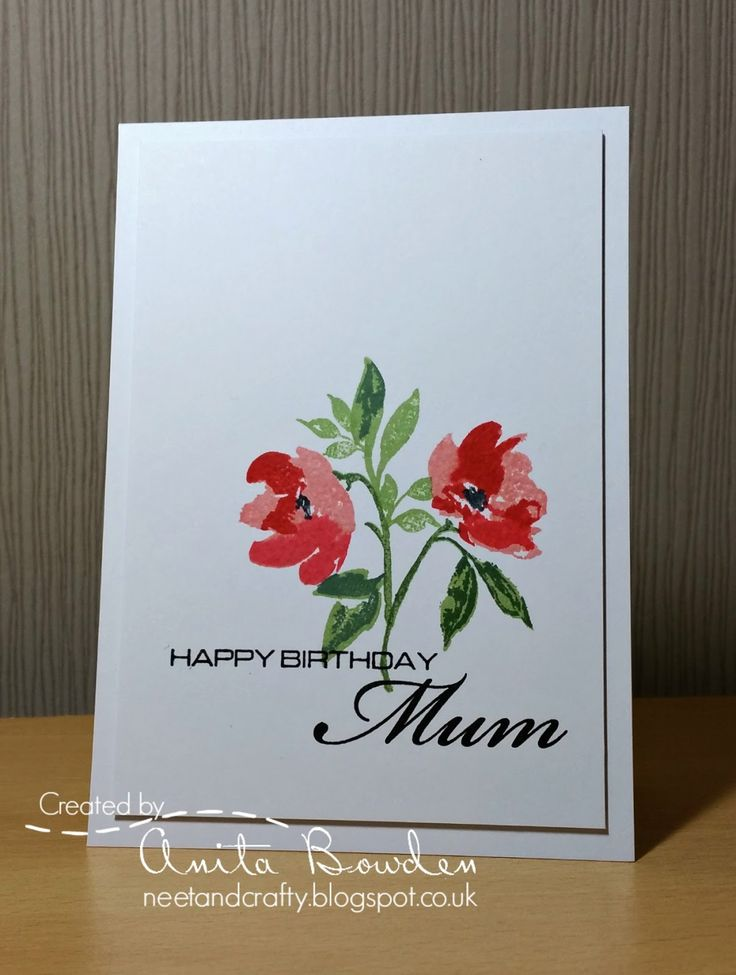Hi there   I've been meaning to share this card for a few days.  I made this for my lovely Mum who celebrated her birthday earlier this week...