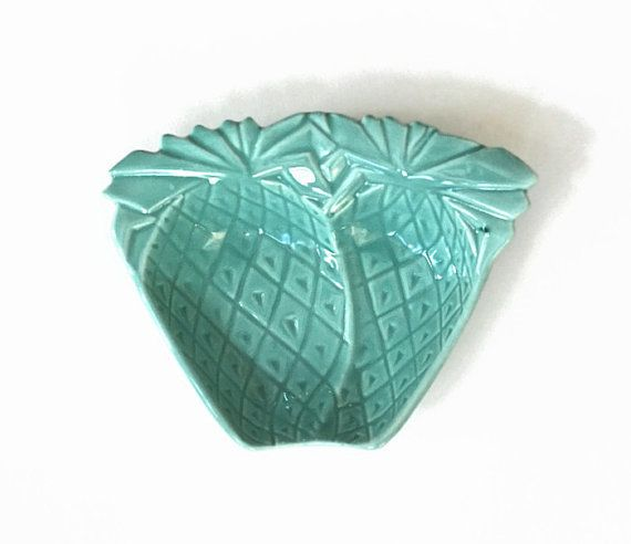 california pottery lazy susan pineapple dish sea foam by ivorybird 600