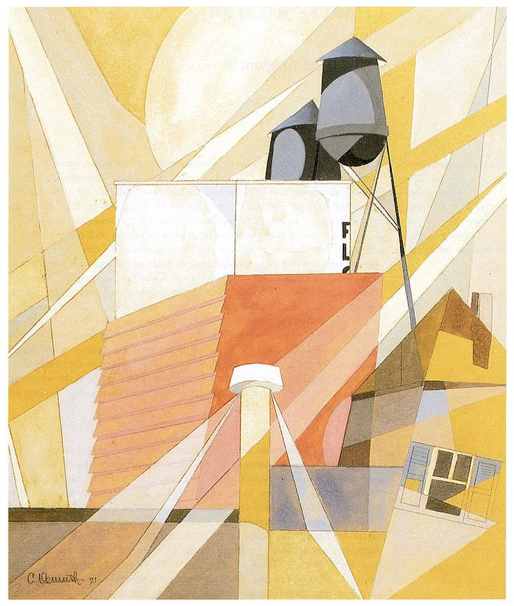 Flour Mill Factory Canvas Print / Canvas Art by Charles Demuth