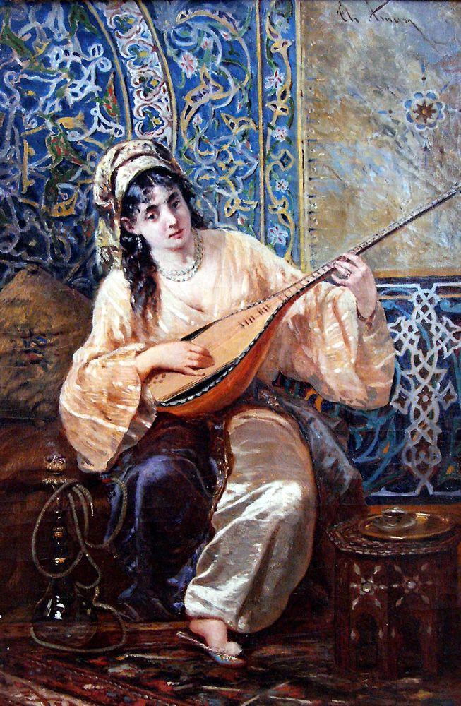 "Theodor Aman (pintor romeno) - ""Odalisca"""