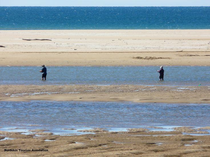 Fishing, Alva Beach, Burdekin, North Queensland.