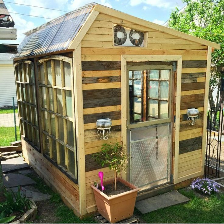 My sister's boyfriend just finished his greenhouse. It cost him $56 to make this.