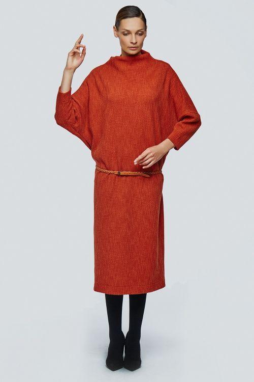 Lesel - Платье хомут летучая мышь плетёнка длинное