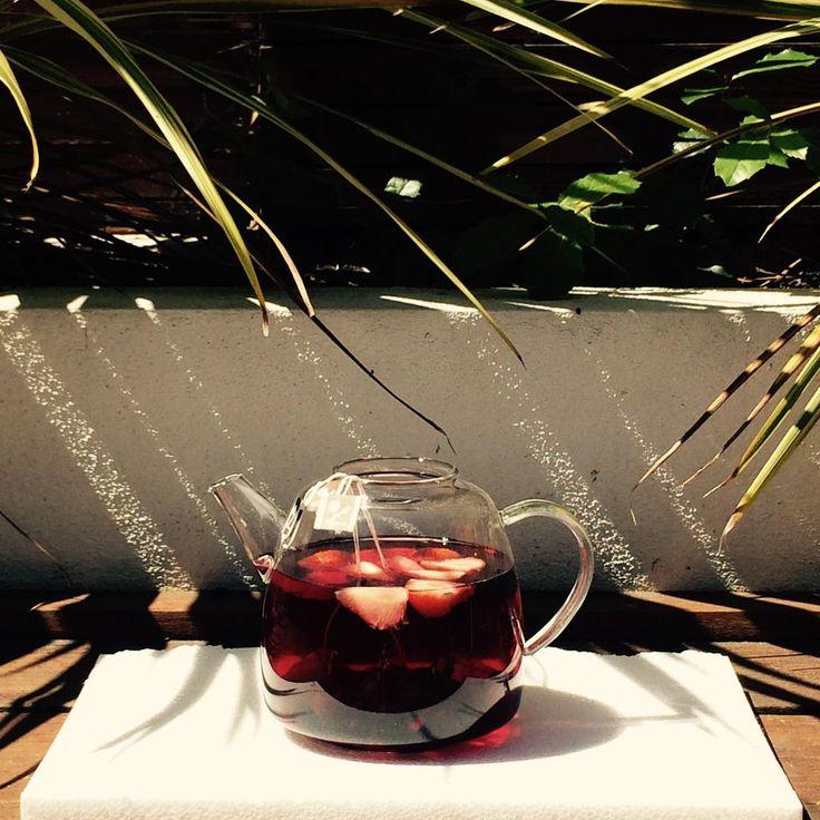 Heat wave day 1 update - we need iced tea, stat. #summertimetea