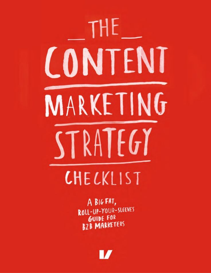 The Content Marketing Strategy Checklist sample. http://www.serverpoint.com/