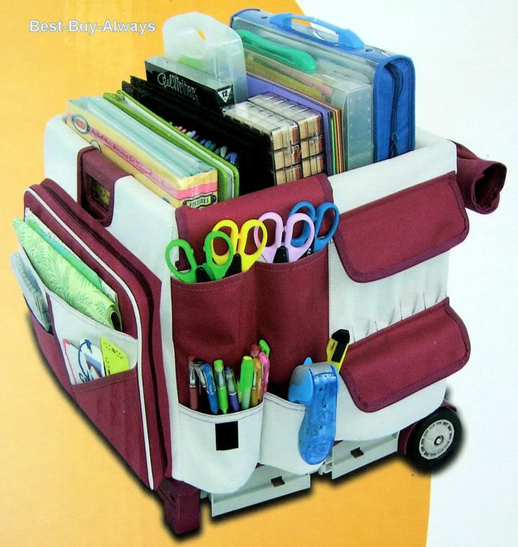 MemoryStor Scrapbook Cart Rolling Organizer Storage Wheeled Tote Classroom Tool