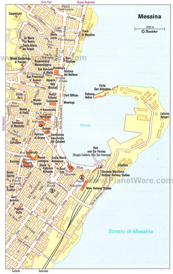 Messina Map Tourist Attractions With Images Ta3idia Agaph