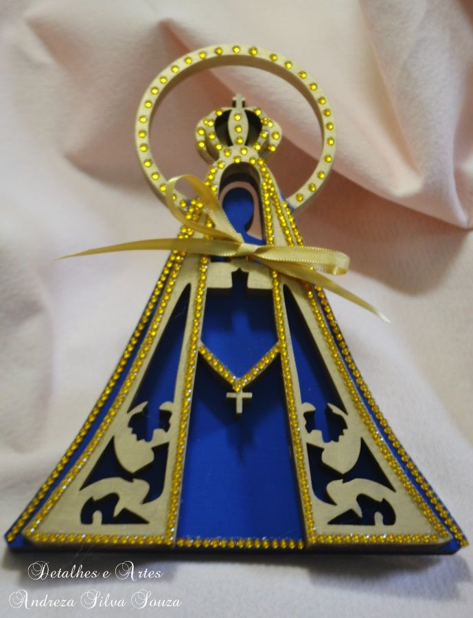 Porta Alianças Nossa Senhora Aparecida para a Thaís, na cidade de Nova Iguaçú - RJ!
