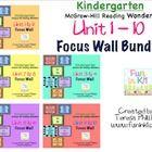 Kindergarten Reading Focus Wall Bundle for Units 1-6 McGraw Hill Wonders