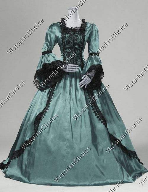 Marie+Antoinette+Renaissance+Fairy+Princess+Prom+Ball+Gown+Period+Dress+with+Train+Dark+Queen+Theatrical+Costume
