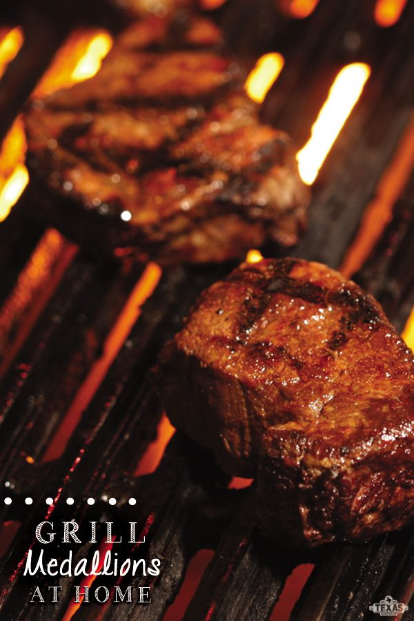 Must try! Grill medallions at home.