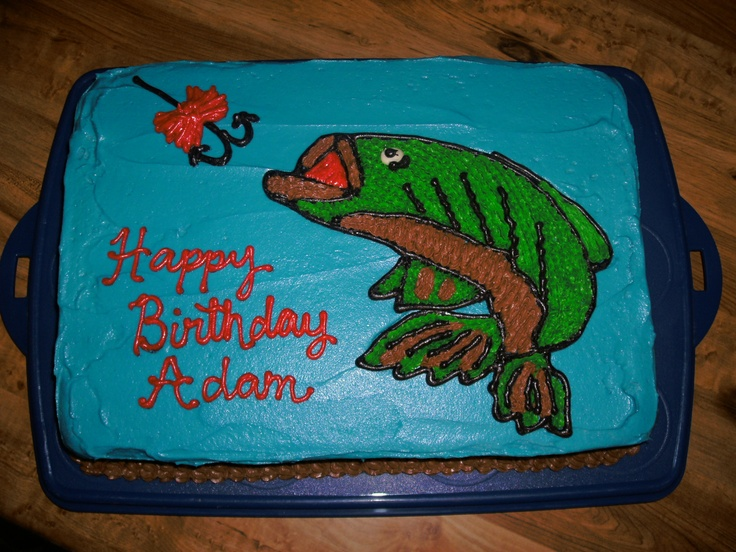 Bass Fishing Cake Party Time Bass Fish Cake Cake