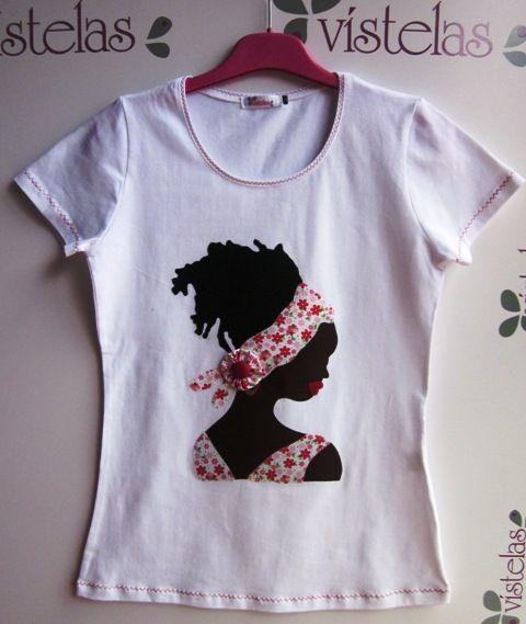 Camiseta Vísteas. Africana.