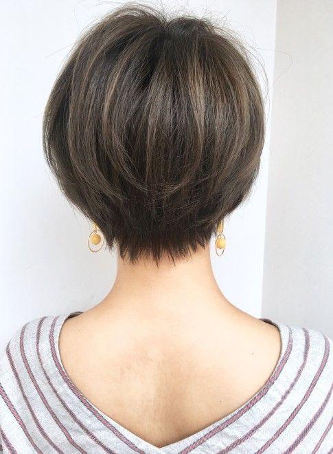 ショートヘア 襟足馴染み 首長小顔ショート Ramie Omotesandoの髪型